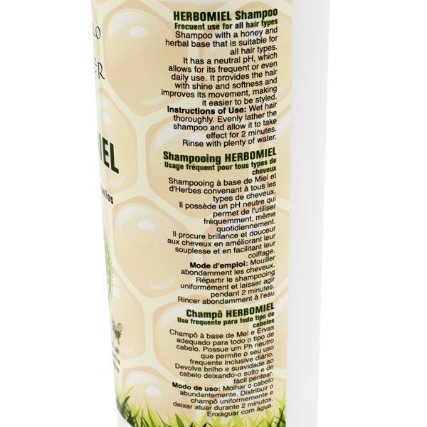 champu herbomiel con miel y hierbas ingredientes