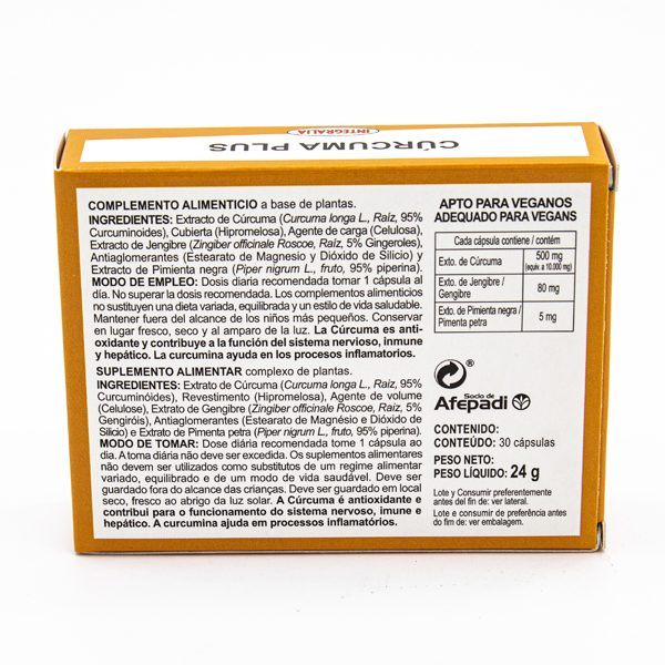 capsulas curcuma veganos ingredientes