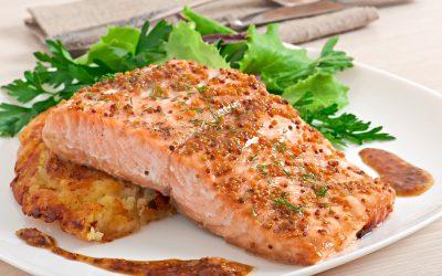 Receta con miel, en esta ocasión salmón.