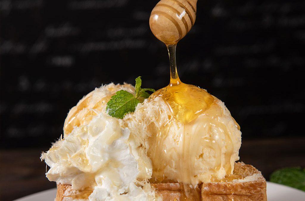 receta-helado-miel
